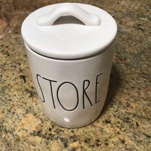 Rae Dunn Ceramic Storage Jar. Bathroom Decor. New.